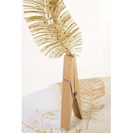 Maxi Pince Pyramide Or en Bois Déco Festive 22.5 cm