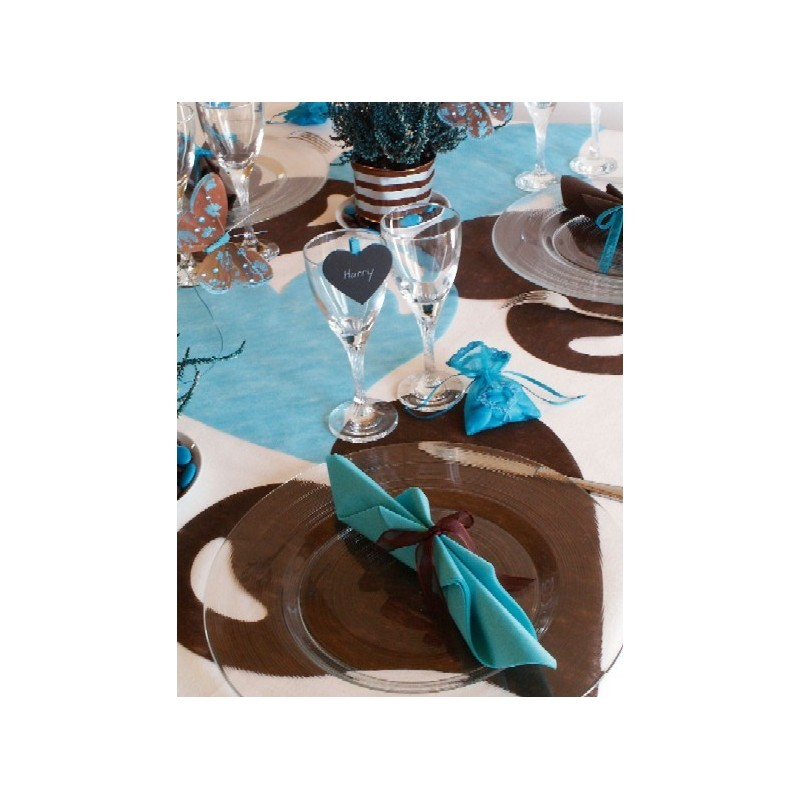 Set de table coeur chocolat intiss les 50 set de table - Set de table intisse ...