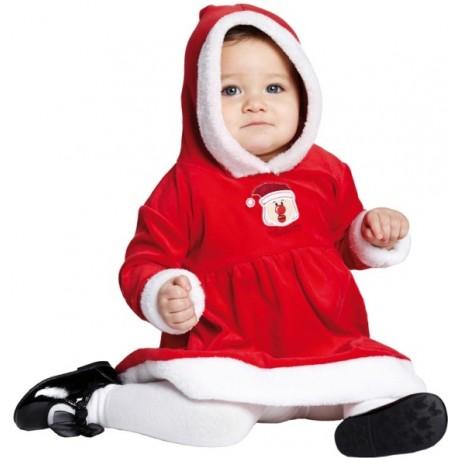Déguisement Bébé Mère Noël Little Miss Santa Luxe Fille