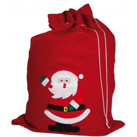 Sac de Père Noël Rouge Motif Pere Noel 68x49cm