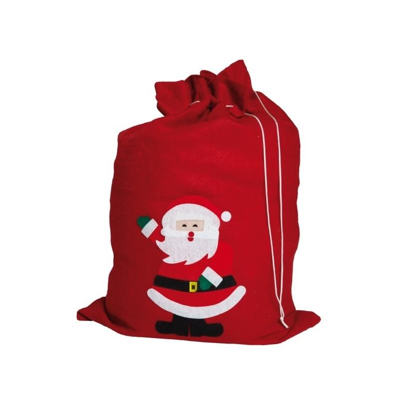 sac de p re no l rouge motif p re no l accessoires no l. Black Bedroom Furniture Sets. Home Design Ideas