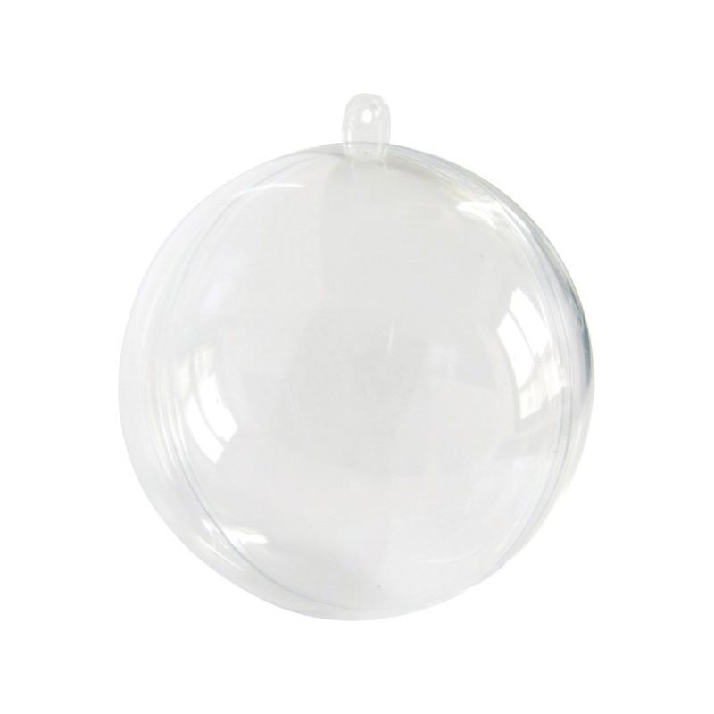 Boule De Decoration Transparente : Boule plexi transparente cm plastique
