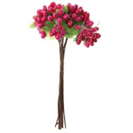 Baies fuchsia en bouquet sur tige les 12