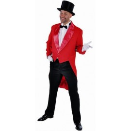 Costume Queue de Pie Cabaret Rouge Deluxe Homme