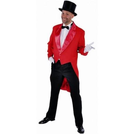 d guisement queue de pie cabaret rouge homme luxe. Black Bedroom Furniture Sets. Home Design Ideas
