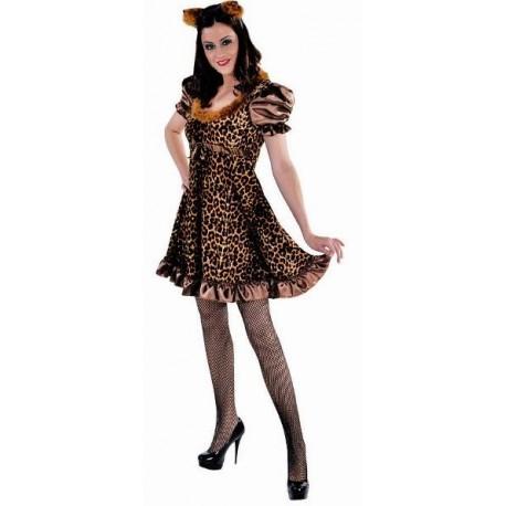 Déguisement chat léopard femme Pussycat luxe