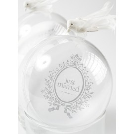 Marque Place Just Married Rond Blanc 9.8 cm les 10