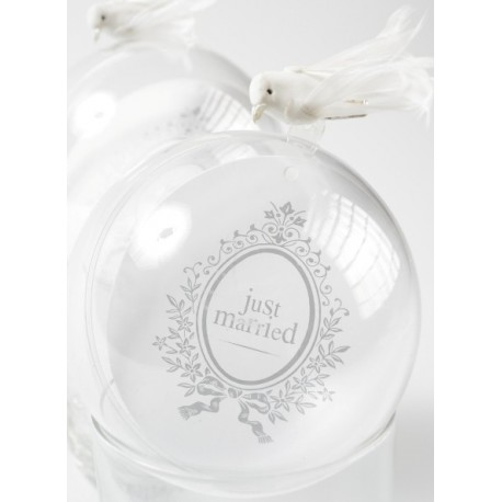 Marque Place Just Married Rond Blanc 9.8cm les 10