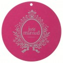 Marque Place Just Married Rond Fuschia 9.8 cm les 10