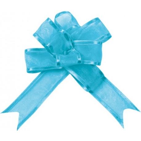 Noeud Turquoise en Organdi les 5 mini noeuds