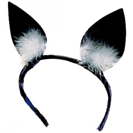 Serre Tête Chat Oreilles de Chat Noires Adulte et Enfant