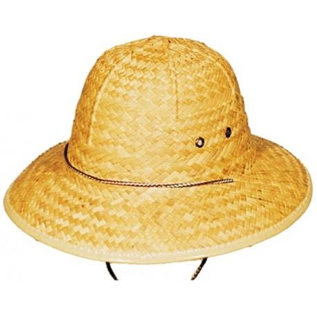 Casque Colonial en Paille Chapeau de Deguisement