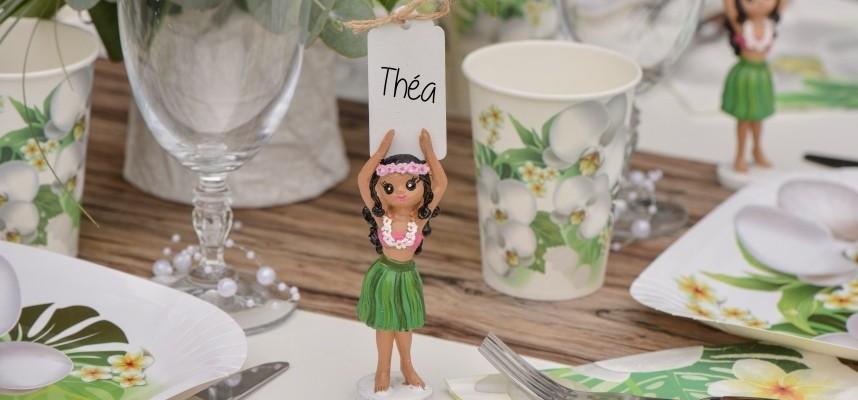 Marque place déco tendance mariage anniversaire baptême table festive