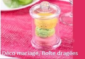 Décoration mariage, Boîte à dragées